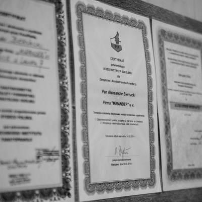 certyfikat mirander